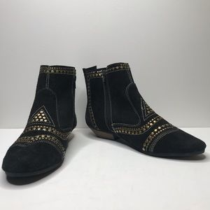 Matisse Black Studded Ankle Boots